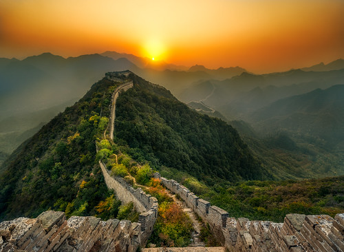 The Abandoned Part of the Great Wall of China