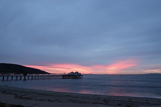 sunrise at the malibu pier