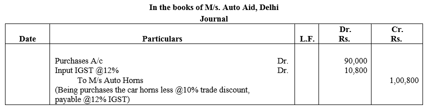 TS Grewal Accountancy Class 11 Solutions Chapter 5 Journal Q16.1