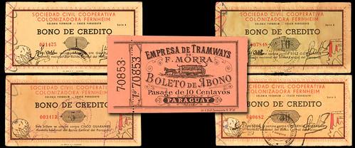 Rare Paraguayan Notes