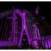 Salford Quays Lift Bridge lit-up in Purple