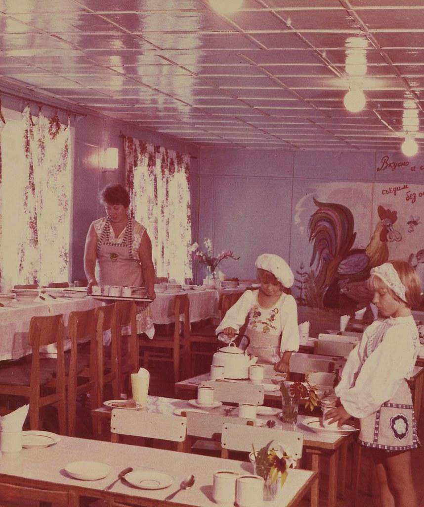 Дальний Восток. Дом отдыха «Нептун». Детская столовая