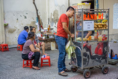 Banh Mi served at a typical Streetfood Vendor in Ho Chi Minh City