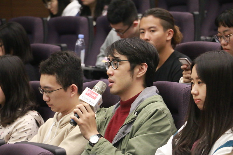 同學積極提問。圖/師大電影節提供