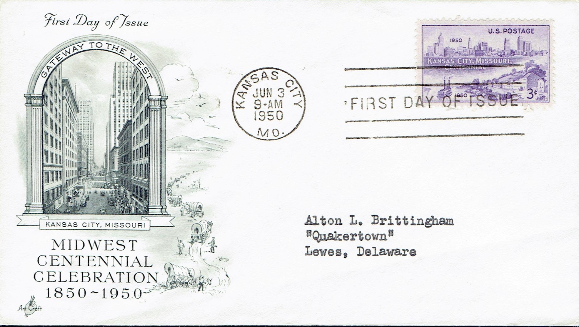 United States - Scott #994 (1950) first day cover