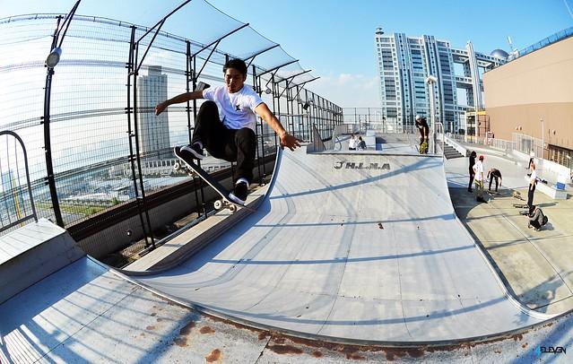 Skatepark in the sky, Nikon D7000, AF DX Fisheye-Nikkor 10.5mm f/2.8G ED