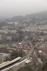 Train in the landscape: Intercity Express Train (IET) at Bath Spa