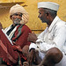 Conversation . Pushkar. Rajasthan. India.