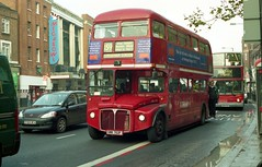 RML2752 (BN) works the final day of Routemaster operation of route 159 seen at Streatham Hill on 9-12-05. Copyright Ian Cuthbertson