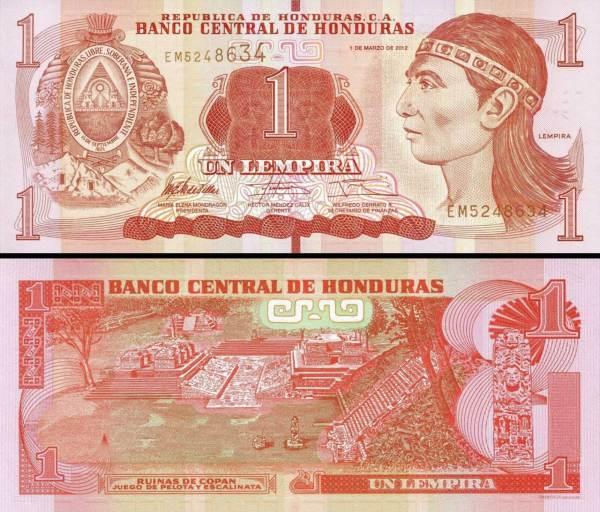 1 Lempira Honduras 2012, P96a