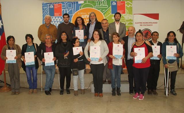 Alcalde de Coltauco y director regional de Serviu entregaron subsidios de mejoramiento y ampliación de viviendas