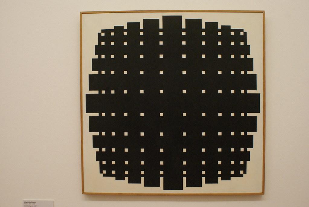 """Rivalità figurale"" (1957) de Mario Ballocco - GAM, musée d'art moderne de Turin."