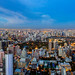 Park and building in Bangkok city from top view by anekphoto