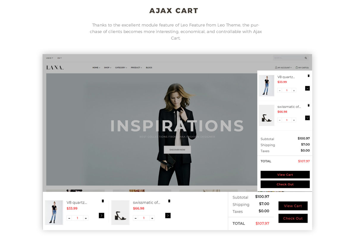 Ajax cart feature - fashion prestashop theme