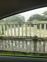 Spring flood during hurricane Lane 2018 in Hilo Hawaii