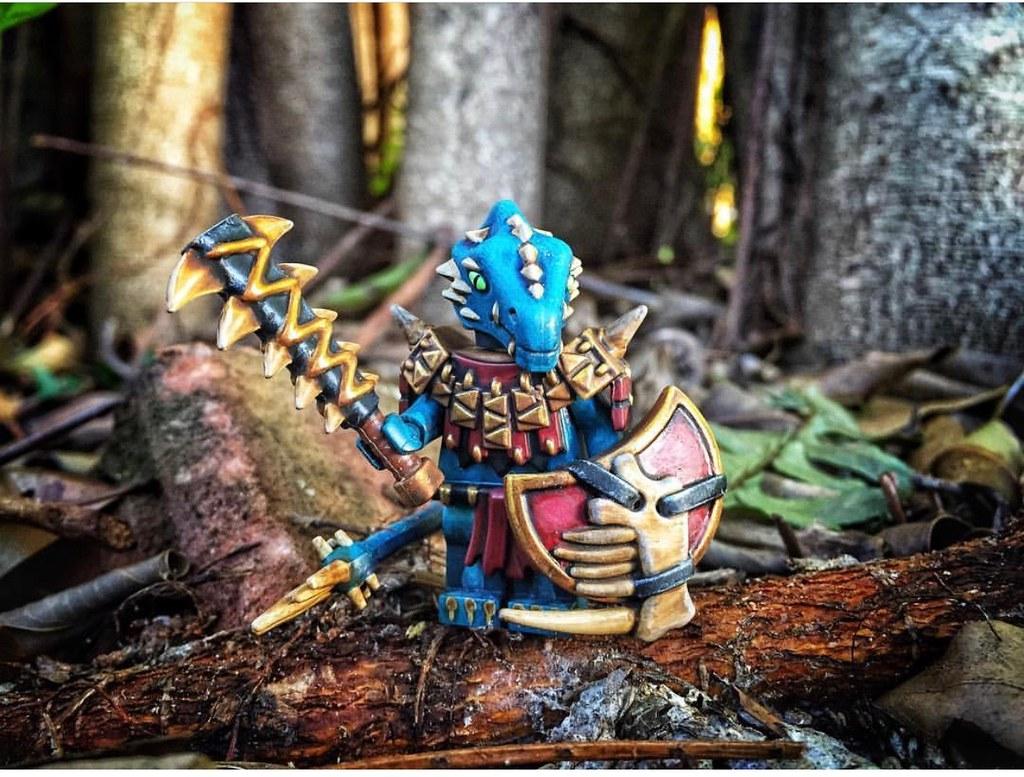 Custom Lego Minifigure of the Week! Saurus Temple Guard by