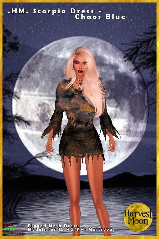 Harvest Moon – Scorpio Dress – Chaos Blue