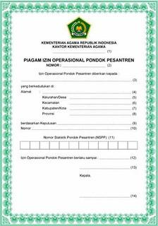 piagam-izin-operasional-pondok-pesantren