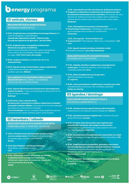 Feria Berdeago 2019. Programa Energía