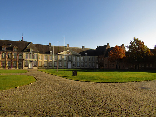 Courtyard and buildings in Tongerlo Abbey in Westerlo