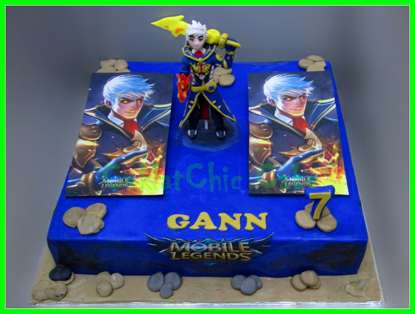 Cake Mobile Legend GANN 35 cm