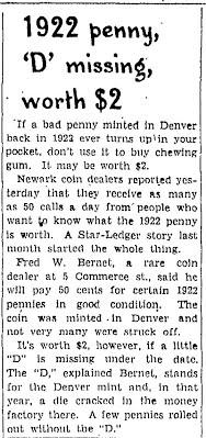Fred bernet 1922 Plain cent NSL Sun 1_5_47 p.7