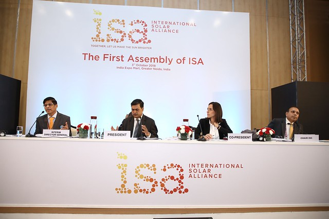 First Assembly of the International Solar Alliance at India Expo Mart, Greater Noida, India.