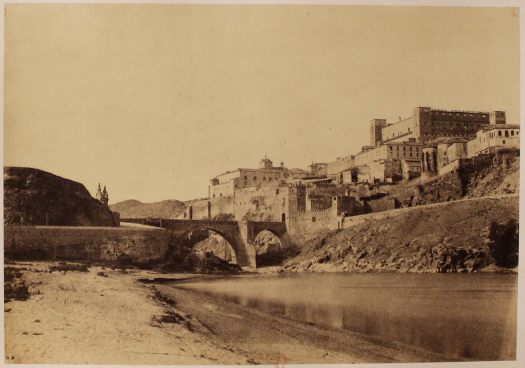 Alcázar, Puente de Alcántara y Playa de Safont en 1858. Fotografía de Gustave de Beaucorps. (c) Bibliothèque Nationale de France