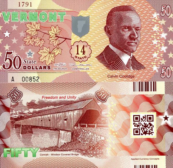 USA 50 Dollars 2015 14. štát - Vermont