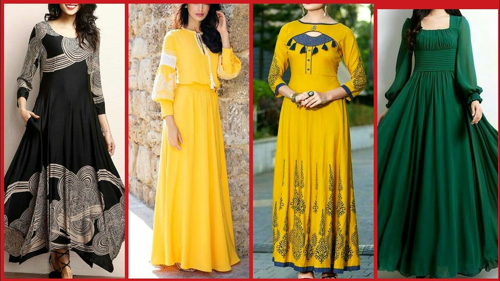 7d52d9ab64 ... Latest Long Frocks Dress Collection For Girls 2018-2019  New Fashion  Ideas