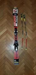 Juniorské lyže Stöckl 130cmi + hole Leki 90cm - titulní fotka