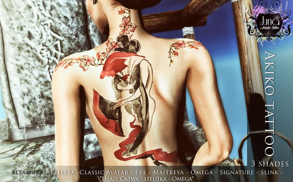 Akiko tattoo - TeleportHub.com Live!