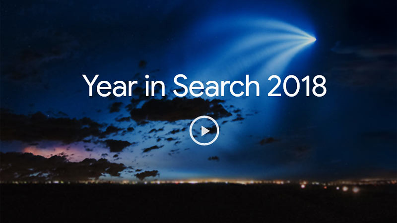Google memilih hal-hal yang paling dicari orang di internet selama tahun 2018.