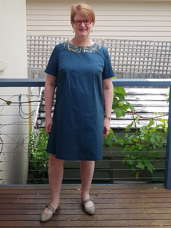 Lekala 4517 in teal cotton drill from Rathdowne Fabrics