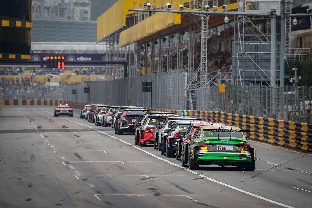 Restart Race 1 during the 2018 FIA WTCR World Touring Car cup of Macau, Circuito da Guia, from november  15 to 18 - Photo Alexandre Guillaumot / DPPI