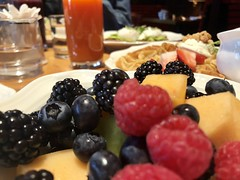 Fruit Salad with Blueberries, Raspberries, Blackberries, Melon, etc.
