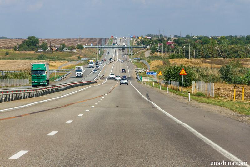 Трасса М-4 в Краснодарском крае