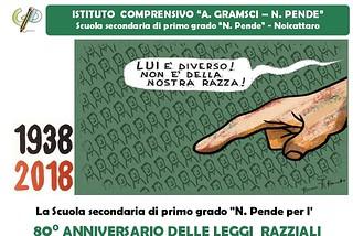 Noicattaro.Locandina Settimana Leggi razziali front