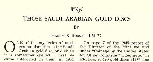 Boosel Arabian gold disc article