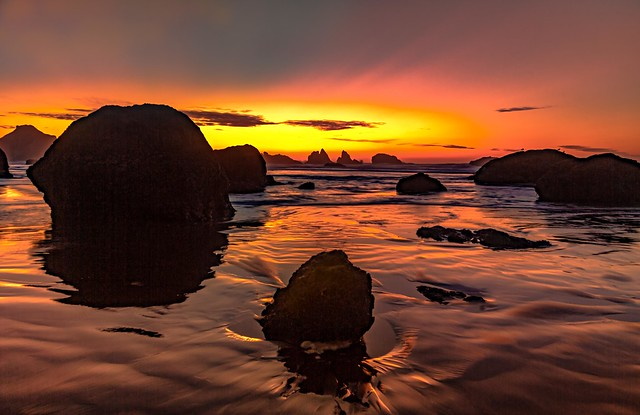 Bandon Beach After Sunset