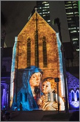 Projected Image on to St Stephens Cathedral-3=