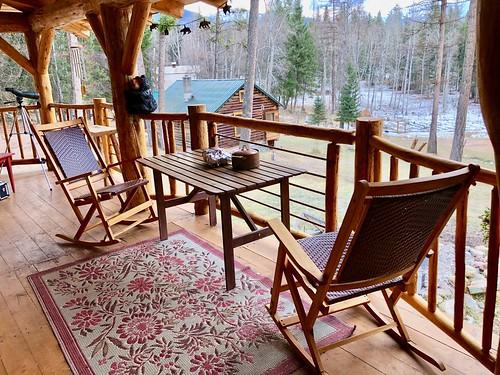 Fantastic porch, even in the winter.
