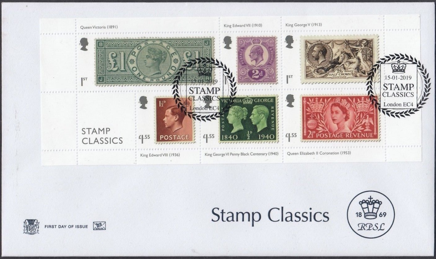 Great Britain - Stamp Classics (January 15, 2019) first day cover - London EC4 RPSL cover