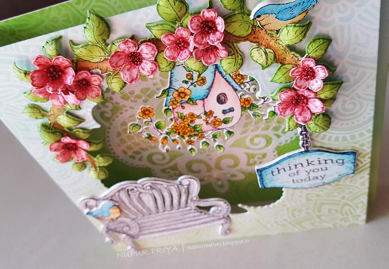 Cherry Blossom Box Card 5_Nupur Creatives
