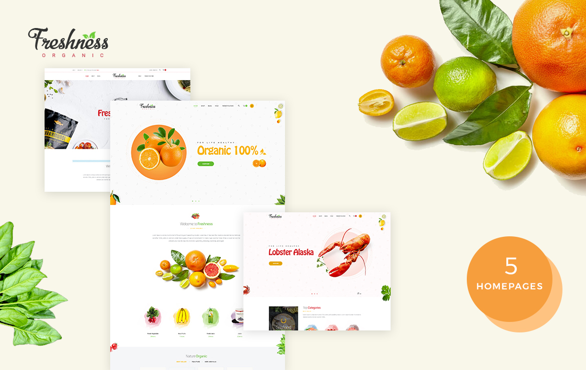 Bos Freshness - Food Prestashop Theme