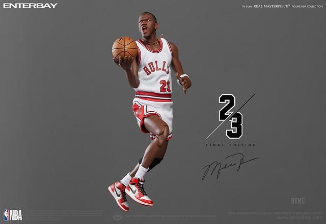 1~14代喬丹鞋收好收滿! ENTERBAY Real Masterpiece - NBA Collection 系列【麥可·喬丹 終極版】Michael Jordan (Final Limited Edition) 1/6 比例人偶作品