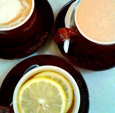 Coffee, Tea, Honey Lemon