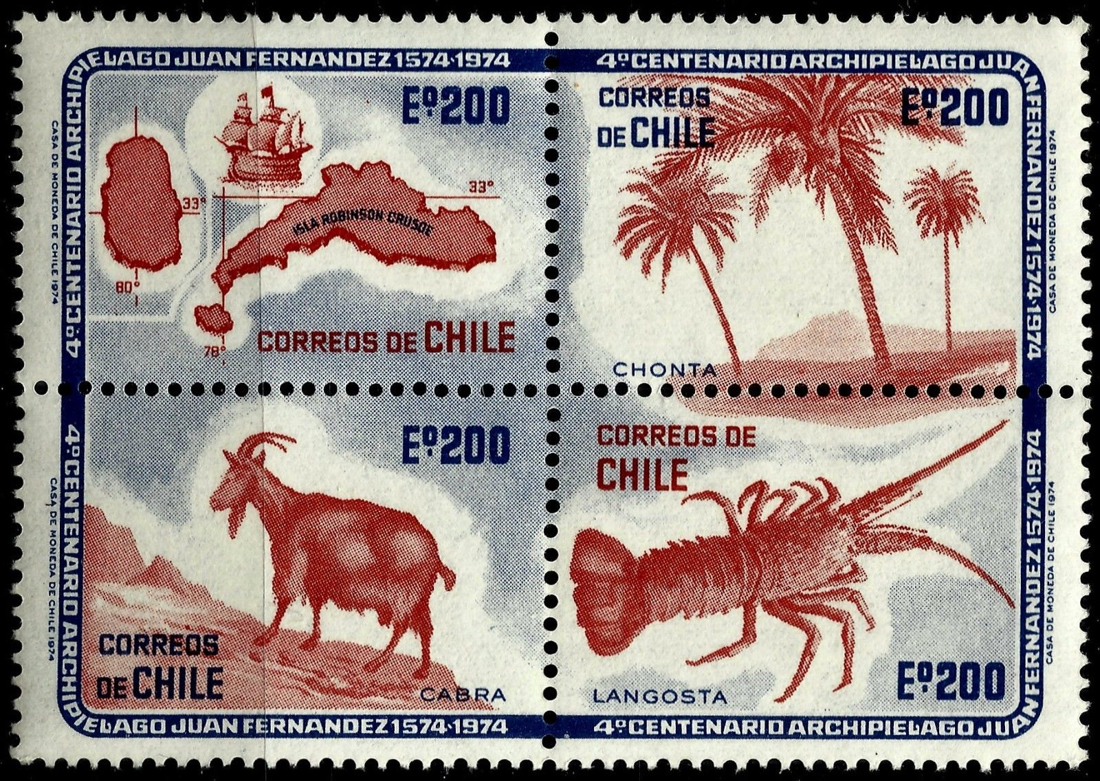 Chile - Scott #455 (1974)