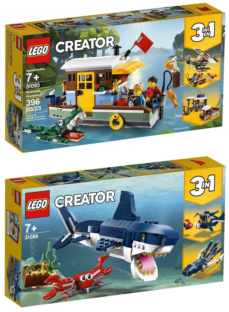 一款盒組三種玩法! LEGO 31086~31094 創意系列 2019上半年部分盒組公開!!
