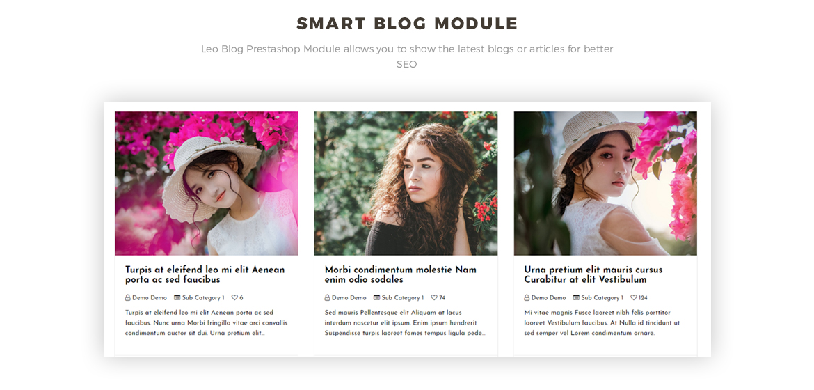 smart blog module - Clothing and Accessories Prestashop theme